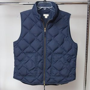 J. Crew Quilted Down Puffer vest Large